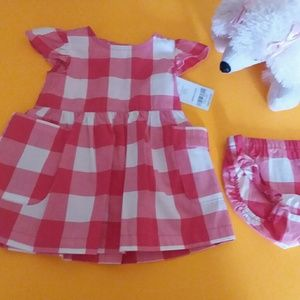 CARTER'S PLAID DRESS FOR BABY GIRL'S Sz 3Months